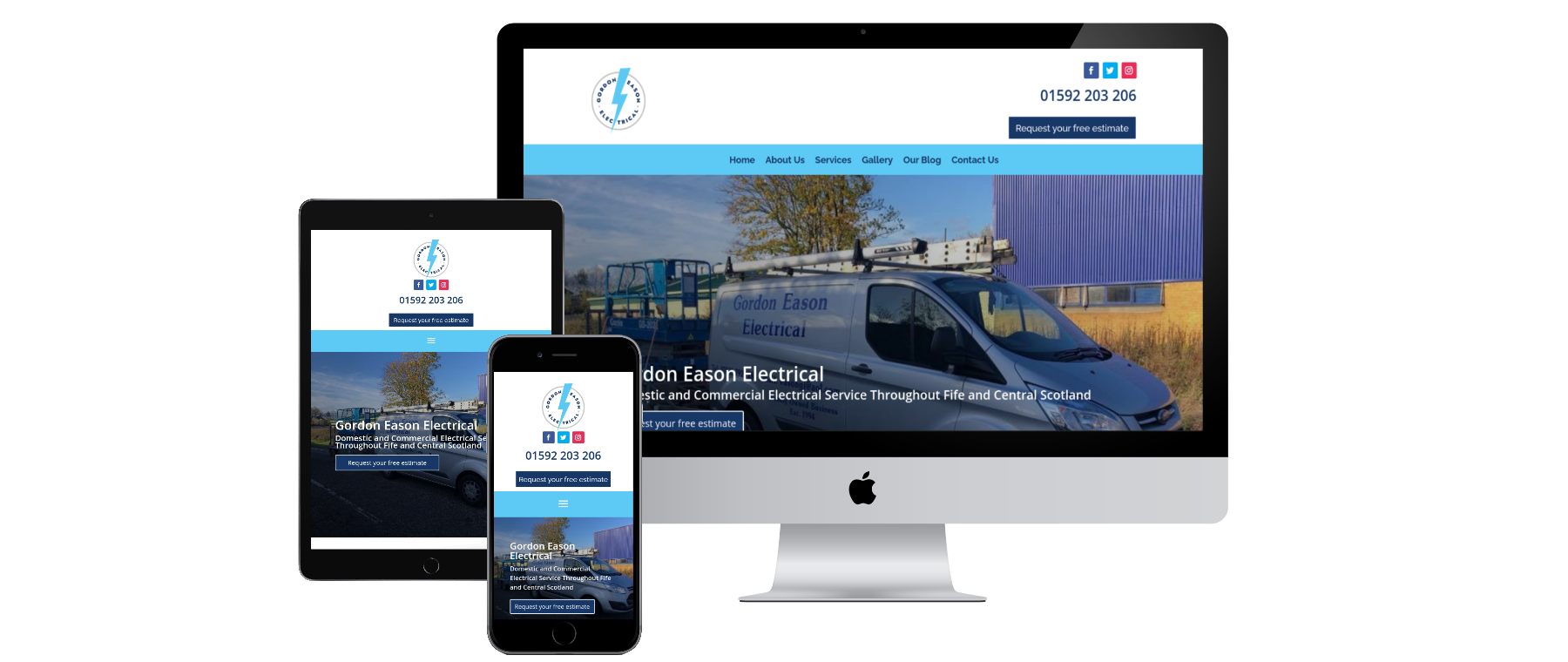Gordon Eason Electrical - Website Designed by Alba Digital Solutions